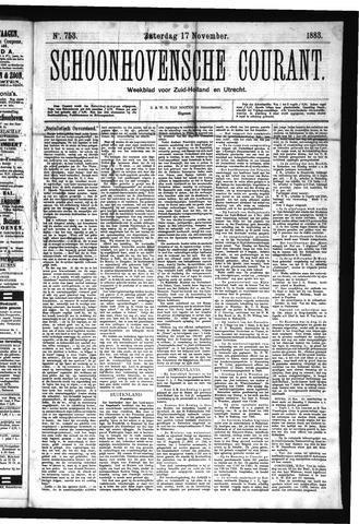 Schoonhovensche Courant 1883-11-17