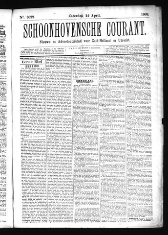 Schoonhovensche Courant 1909-04-24