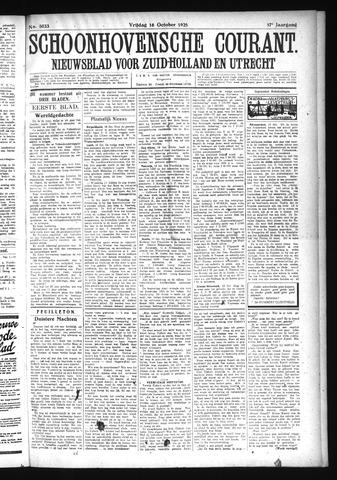 Schoonhovensche Courant 1925-10-16