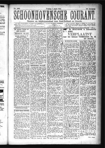 Schoonhovensche Courant 1922-04-07