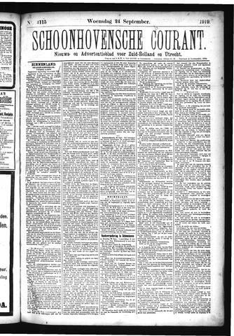Schoonhovensche Courant 1919-09-24