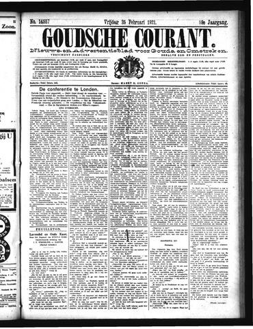 Goudsche Courant 1921-02-25