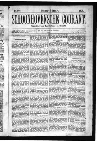 Schoonhovensche Courant 1879-03-09