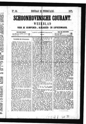 Schoonhovensche Courant 1871-02-12