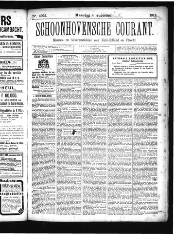 Schoonhovensche Courant 1919-08-04