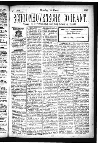 Schoonhovensche Courant 1919-03-18
