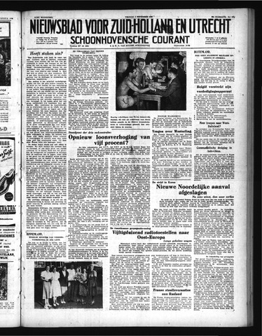 Schoonhovensche Courant 1950-09-01