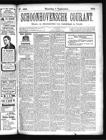 Schoonhovensche Courant 1919-09-08