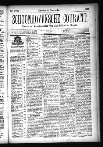 Schoonhovensche Courant 1915-11-09