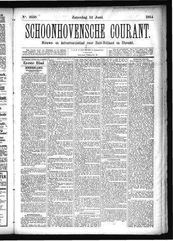 Schoonhovensche Courant 1914-06-13