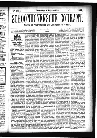 Schoonhovensche Courant 1897-09-04