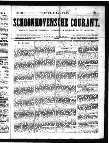 Schoonhovensche Courant 1872-04-14