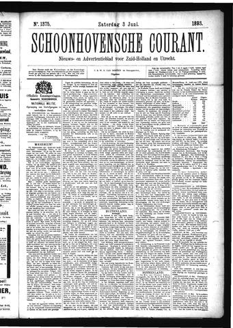 Schoonhovensche Courant 1893-06-03