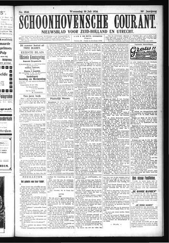 Schoonhovensche Courant 1924-07-30