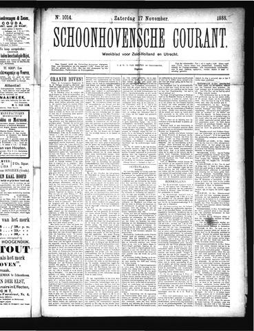 Schoonhovensche Courant 1888-11-17