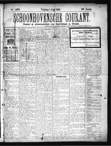 Schoonhovensche Courant 1921-07-01