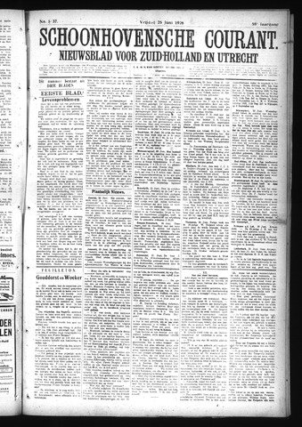 Schoonhovensche Courant 1926-06-25