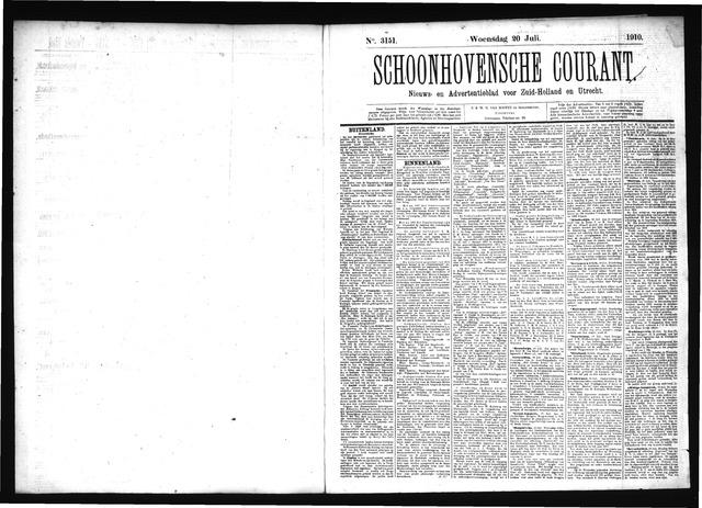 Schoonhovensche Courant 1910-07-20