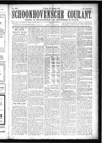 Schoonhovensche Courant 1923-01-19