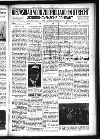 Schoonhovensche Courant 1933-11-01