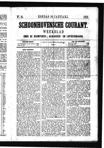 Schoonhovensche Courant 1870-01-30