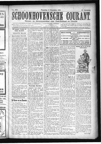Schoonhovensche Courant 1923-12-17