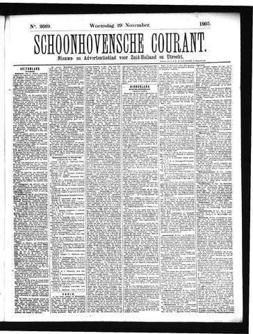 Schoonhovensche Courant 1905-11-29