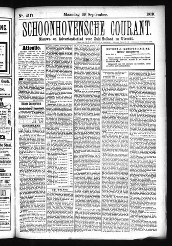 Schoonhovensche Courant 1919-09-29