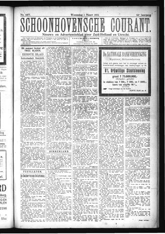 Schoonhovensche Courant 1922-03-01