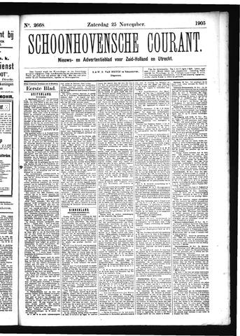 Schoonhovensche Courant 1905-11-25