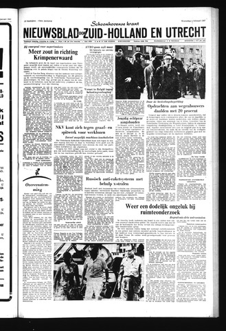 Schoonhovensche Courant 1967-02-01