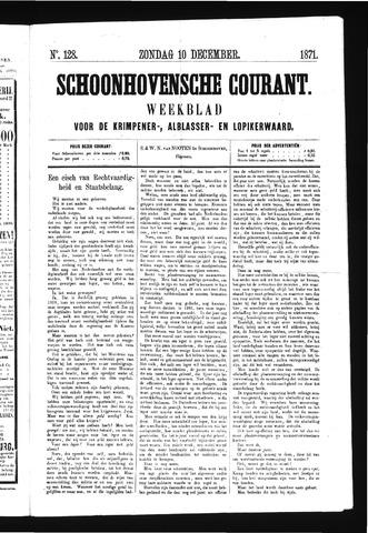 Schoonhovensche Courant 1871-12-10
