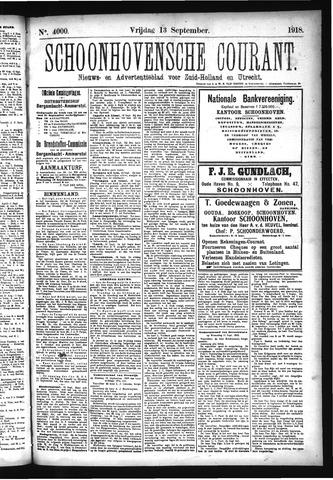 Schoonhovensche Courant 1918-09-13