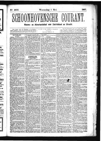 Schoonhovensche Courant 1907-05-01