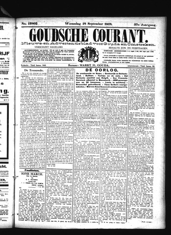Goudsche Courant 1918-09-18