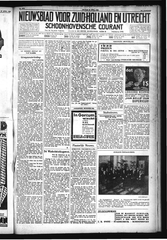 Schoonhovensche Courant 1932-04-29
