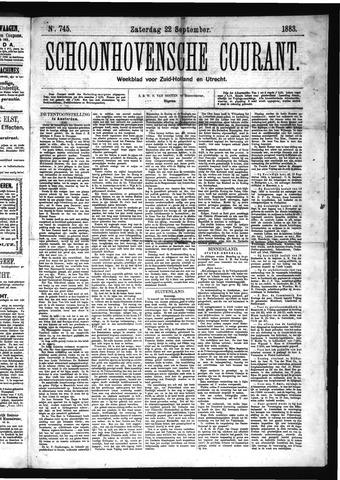 Schoonhovensche Courant 1883-09-22
