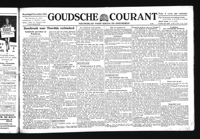 Goudsche Courant 1944-11-06