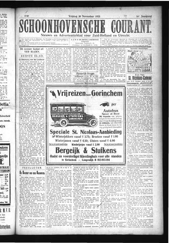 Schoonhovensche Courant 1923-11-30