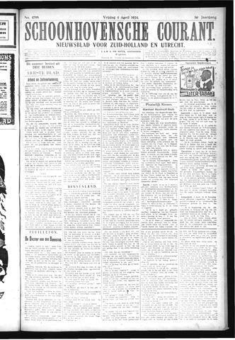Schoonhovensche Courant 1924-04-04