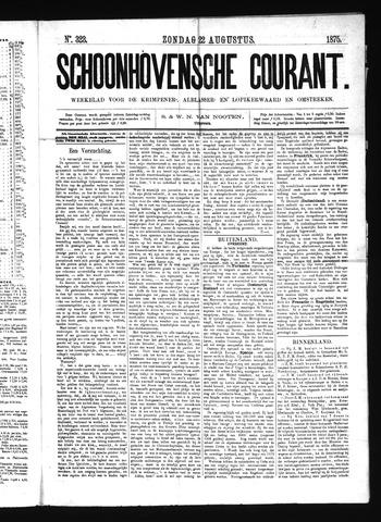 Schoonhovensche Courant 1875-08-22