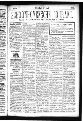 Schoonhovensche Courant 1919-05-27
