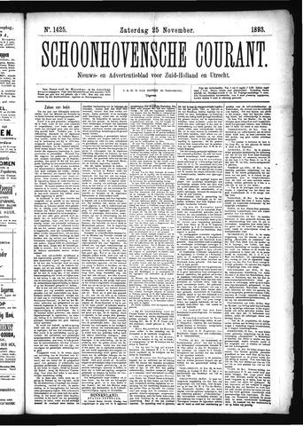 Schoonhovensche Courant 1893-11-25