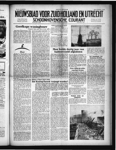 Schoonhovensche Courant 1952-02-29