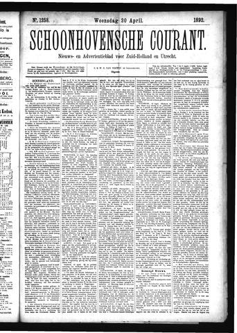 Schoonhovensche Courant 1892-04-20