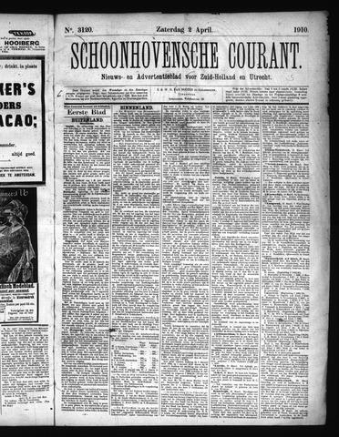 Schoonhovensche Courant 1910-04-02
