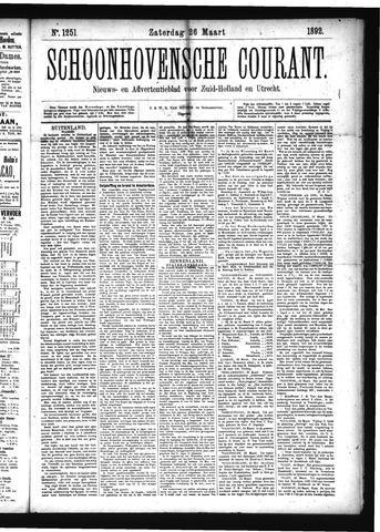 Schoonhovensche Courant 1892-03-26