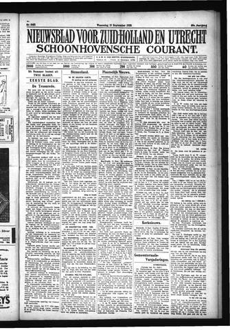 Schoonhovensche Courant 1928-09-19