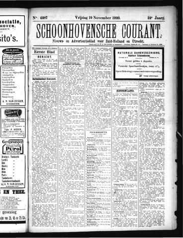 Schoonhovensche Courant 1920-11-19