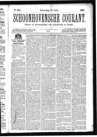 Schoonhovensche Courant 1893-06-24